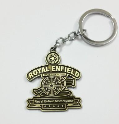 SURAJ ENTERPRISES Royal Enfield Gun Metal Steel Key Chain