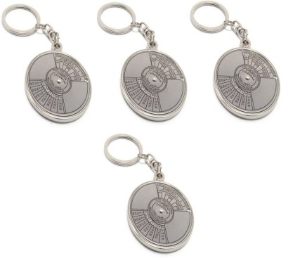 Oyedeal Pack of 4 Compass Date Perpetual with Calendar up-to 50 Years Key Chain
