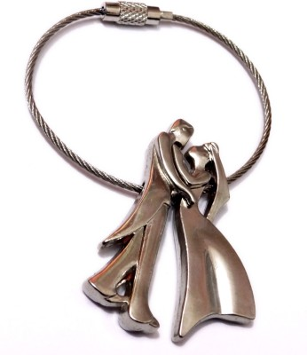 Aditya Traders Wire couple true love metal Keychain Key Chain