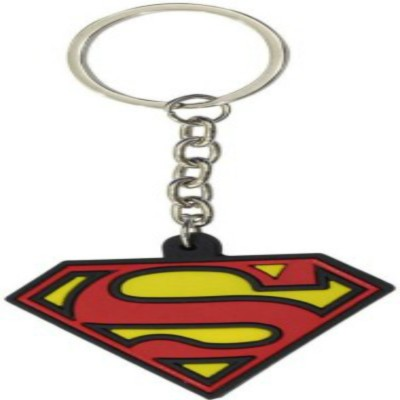 spotdeal SDL371 superman logo rubber keychain Carabiner