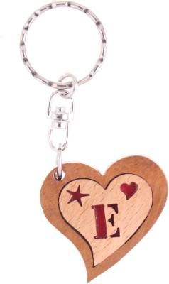 JM Alphabet E Heart Key Chain