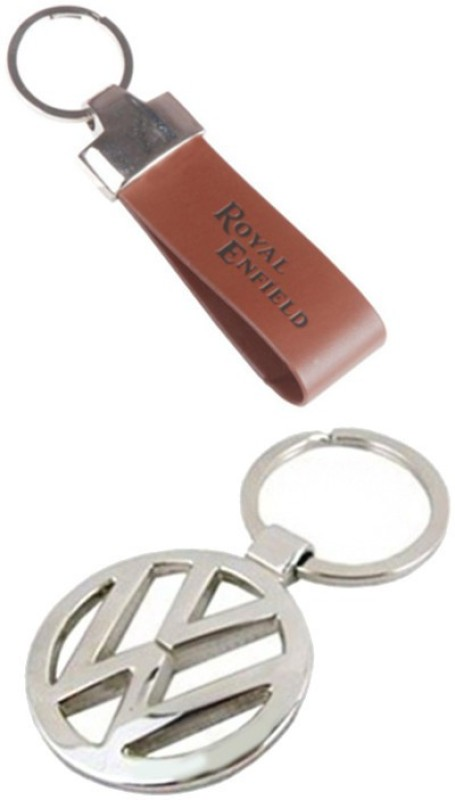Alexus Royal Enfield Leather And Volkswagon Key Chain
