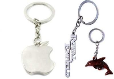 Ezone Apple, Royal Enfield & Fish Key Chain(Multicolor) Key Chain
