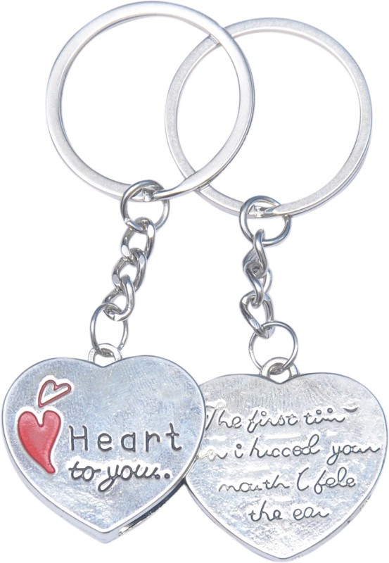 Anishop Heart Shape Key Chain(Silver)