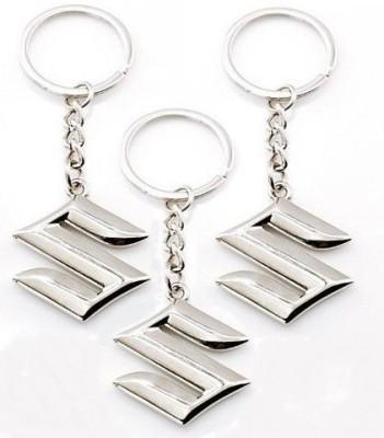 Indiashopers Suzuki Metallic Key Ring (Pack of 3) Key Chain