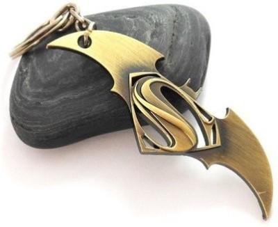 SURAJ ENTERPRISES Batman Superman Golden Metal Key Chain