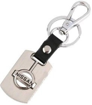 Ezone Leather Nissan Metal Key Chain