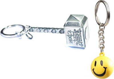 Confident Metalic Hammer With Smily Key Chain