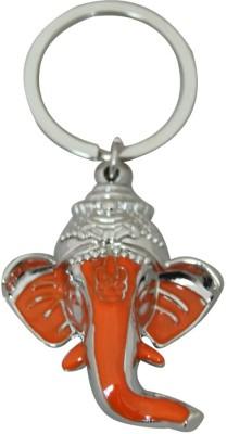 Aaradhi Ganesha Head Keychain Locking Key Chain