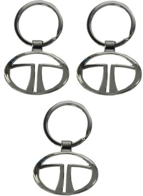 Onlinemart Tata Full Metal KeyRing (Pack of 3) Key Chain