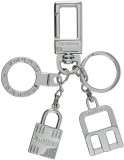 Veevi Omuda Silver Lock Hook Key Chain L...