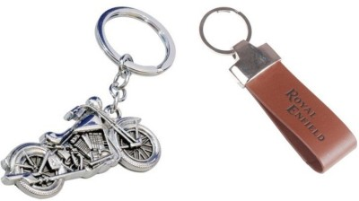 i-gadgets Chopper bike and Royal Enfield Leather Strap Key Chain