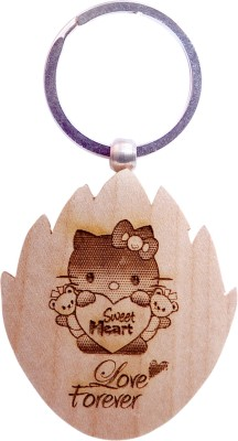 Oyedeal Express Love KYCN364 Wooden Engraved Key Chain