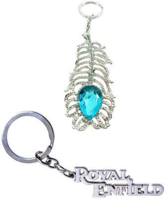 Alexus Oh My God And Royal Enfield Metal Key Chain