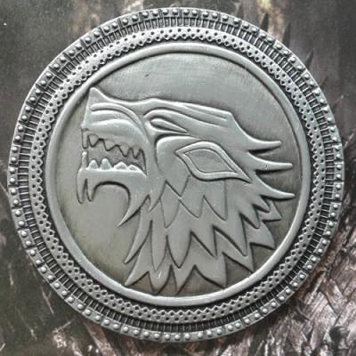 Optimus traders Game of Thrones House Stark Winter Is Coming Metal Brooch Key Chain