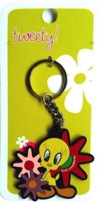 Warner Bros Tweety Floral Rubber Key Chain