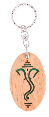 JM Lord Ganesha sketch Green Key Chain