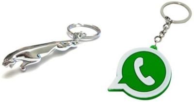 Rashi Traders Jaguar + Whatsapp Key Chain