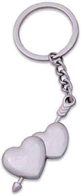 CTW Double Arrow Heart Love Metal Valentine Gift Key Chain