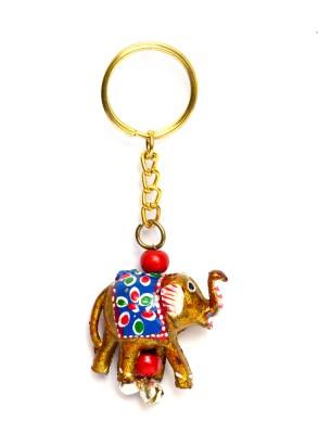 Lamha Crafts Golden Elephant Key Chain