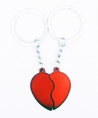 Indigo Creatives Lovers Red Heart Couple Magnetic Cojoining Set Key Chain