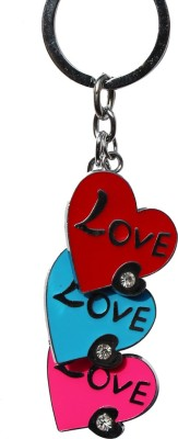 Anishop Cute Heart Shape Bling Key Chain