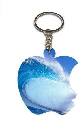 Onlineworld Apple Shape Wood -04 Key Chain
