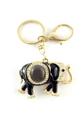 S2S Elephant Gold Black Fashion Key Chain Locking Key Chain