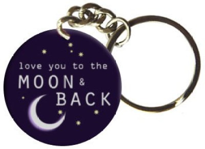Exciting Lives Moon And Back Keychain Key Chain