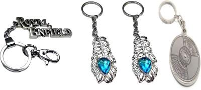 FCS Big Royal Enfield + Omg + Calander Locking Key Chain