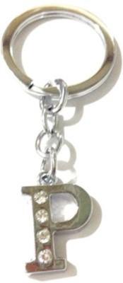Rashi Traders Alphabet P Chrome Key Chain