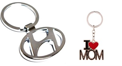99DailyDeals R90 Combo of 2 Hyundai and I Love Mom keychain Key Chain