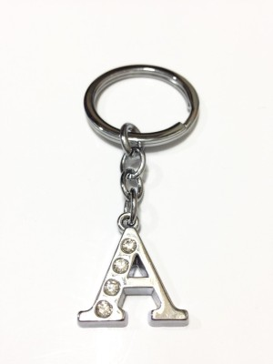 99DailyDeals R45 Alphabet A High Quality Chrome Metal Finish Keyring Key Chain