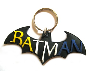 Optimum Deal Cute Batman Logo Double Sided Rubber Key Chain