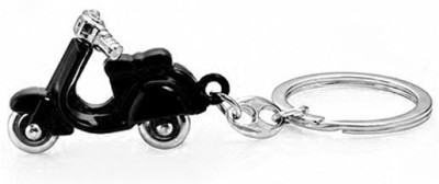 Accedre Designer Black Scooter Metal Keychain For Car/Bike Carabiner