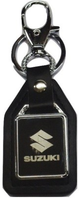 Ezone Suzuki Rectangle Car Logo Locking Key Chain