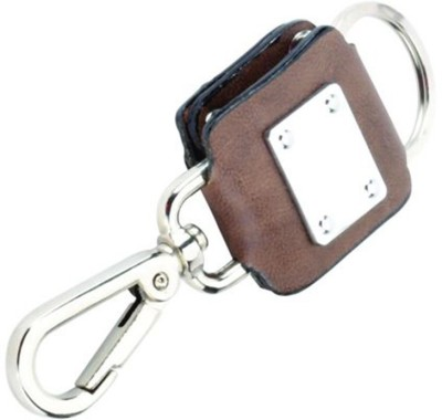 Pyramid Pyramid Imported Brown Soft Leather Key Ring Locking Key Chain