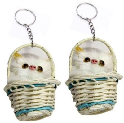 Paracops Bunny Basket Key Chain