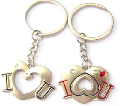 CTW I love You Heart Valentine Metal Pack Of 2 Locking Key Chain