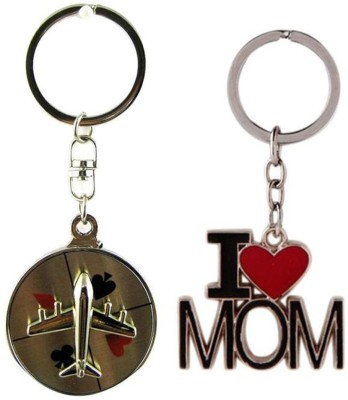 Confident Airoplan With I Love Mom Key Chain