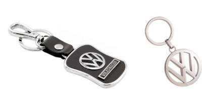 Chainz Pack of Volkswagen Leather and Metallic Key Chain