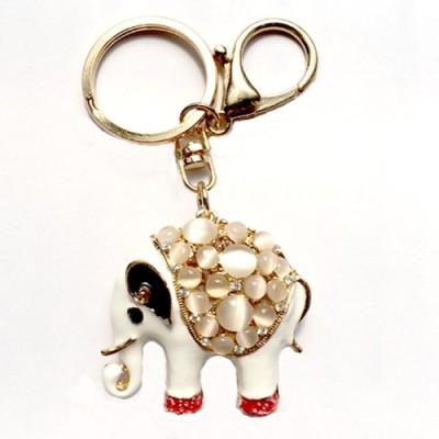 S2S Crystal Elephant Fashion Gold Key Chain Locking Key Chain