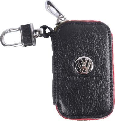 Heaven Deal Volkswagen Small Black Key Chain Car Remote Holder Locking Carabiner