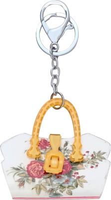 Super Drool Yellow Designer Acrylic Handle Bag Locking Key Chain