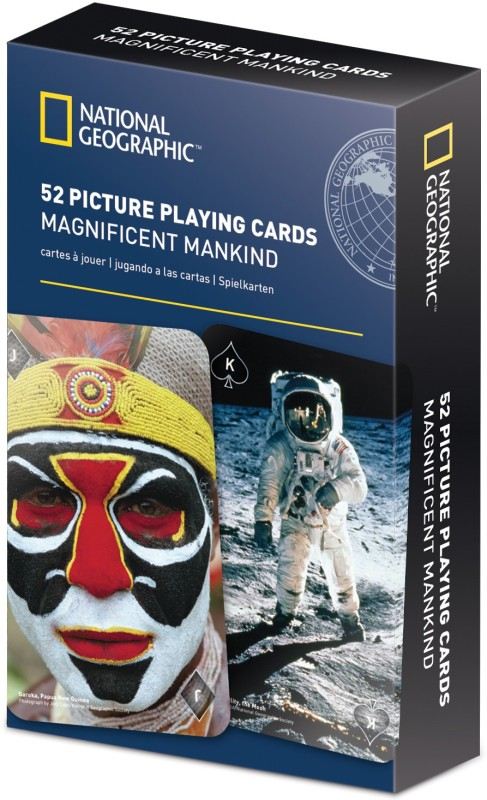 That Company Called IF National Geographic 52 Picture Playing Cards - Magnificent Mankind(Multicolor)