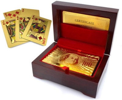 DIZIONARIO Golden Playing Cards with Box set of One