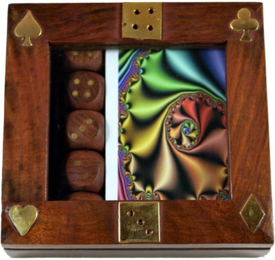 Craftuno Handcrafted Wooden Card & Dice Box
