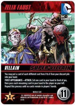 DC COMICS Felix Faust Super Villain Deck Building Promo