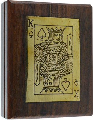 Craftuno Handcrafted Wooden Playing Card Box