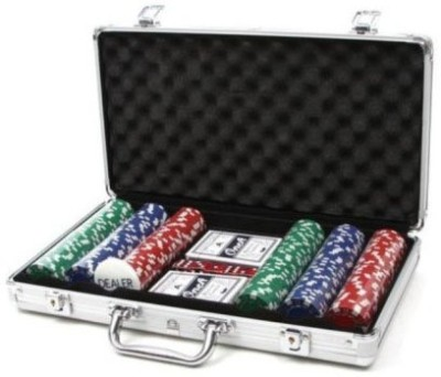 Kids Mandi 300 Chips Poker Set Stylish Carry Suitcase